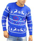 Official Playstation Symbols logo new quality unisex blue Christmas JumperSize: Small screen shot 1