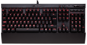 Corsair Gaming K70 RapidFire, Black, Red LED, Cherry MX Speed Keyboard screen shot 1
