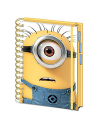 Despicable Me Shocked Minion Stuart Official New 80 Page Lined NotebookSize:Stationery