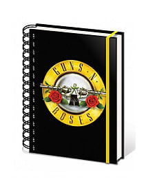 Guns N Roses classic bullet Logo new Official spiral A5 80 page lined NotebookSize:Stationery