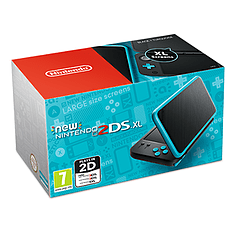 New Nintendo 2DS XL Black + Turquoise for 3DS