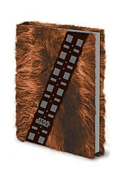 Star Wars chewbacca Fur covered new Official A5 premium NotebookSize:Stationery