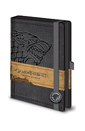 Game Of Thrones house stark emblem new Official premium A5 NotebookSize:Stationery