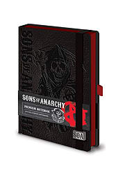 Sons Of Anarchy reaper logo new Official premium A5 NotebookSize:Stationery
