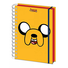 Adventure Time Notebook Jake Official New 80 Page Lined Spiral (21cm x 15cm)Stationery