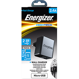 Energizer HighTech Micro USB Mains 2.4A BlackAudio