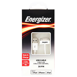 Energizer 30Pin Cable 1.0M WhiteAudio