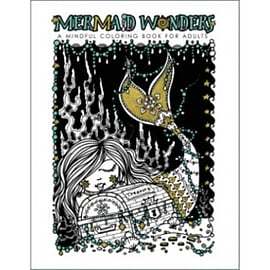 Mermaid Wonders: A Mindful Coloring Book for AdultsBooks
