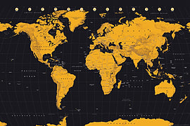 Buy gold world map poster 61x915cm free uk delivery game gold world map poster 61x915cm gumiabroncs Images
