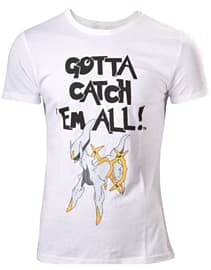 Pokemon Arceus Gotta Catch 'Em All (GCTA) White T-shirt - MediumSize-M