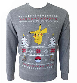 POKEMON Men's Dancing Pikachu Christmas Jumper, Small (Mens 36-38)Clothing and Merchandise