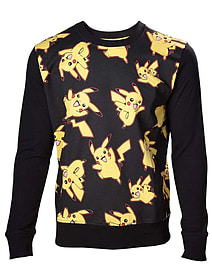 Pokemon Pikachu - Allover Sweater black - LargeClothing and Merchandise