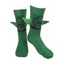 CR110904STW-39/42 Star Wars Merchandise STAR WARS Adult Male Yoda Floppy 3D Ears Crew Socks, 39/42,Clothing and Merchandise