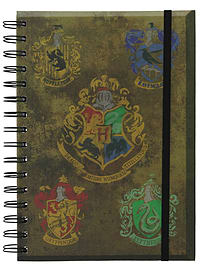 Harry Potter Hogwart's Crests A5 NotebookStationery
