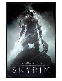 Gloss Black Framed Skyrim Dragonborn Maxi Poster 61x91.5cmPosters