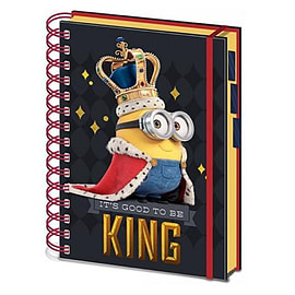 Minions Notebook Good to be King A4 new Official Black spiral boundSize:Stationery