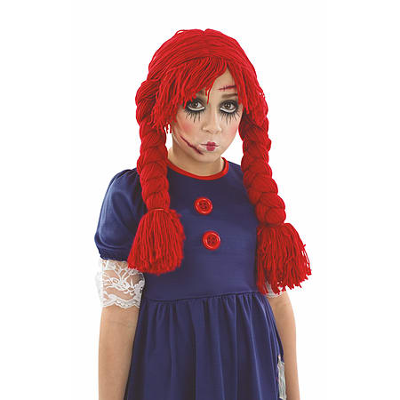 medium child scary broken rag doll costume girls halloween fancy dress ages 4 12