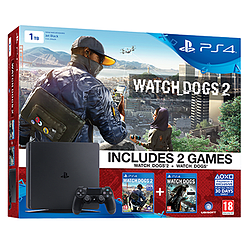 PlayStation 4 1TB New Look Console with Watch Dogs 2 and Watch DogsPlayStation 4
