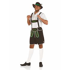 Buy Large Oktoberfest Bavarian Man Lederhosen Costume Brown German Beer  Mens Fancy Dress  7353f2f2763c