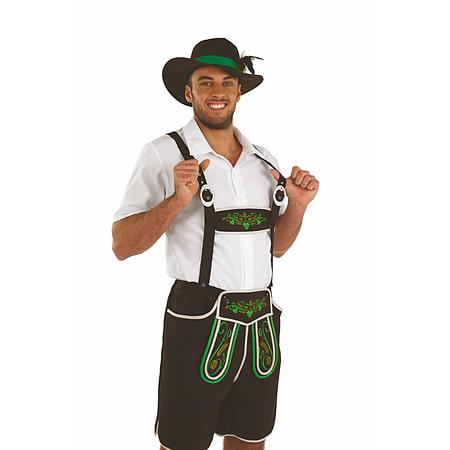 Large Oktoberfest Bavarian Man Lederhosen Costume Brown German Beer Mens  Fancy Dress 226cc86457de