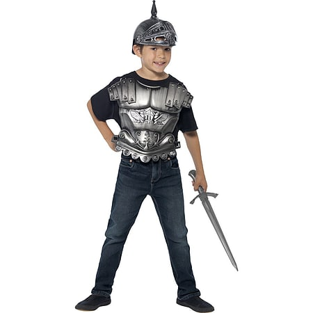 Medieval Armour Kit Helmet Sword Kids Fancy Dress Costume King Knight Crusader  sc 1 st  Game : knight crusader costume  - Germanpascual.Com