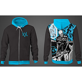 DEDSEC Brainwash Blue Hoodie (Large)Clothing and MerchandiseCover Art