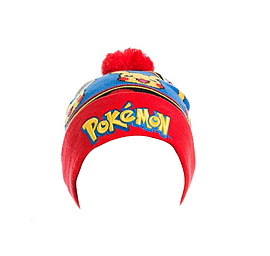 Pokemon Beanie bobble Hat Logo With Pikachu One SizeClothing and Merchandise