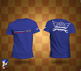 Sonic Blue Ring T-Shirt LSize-L