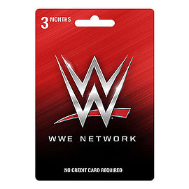 WWE Network 3 Month Subscription CardTop ups