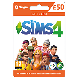 The Sims 4 £50 Gift CardTop ups