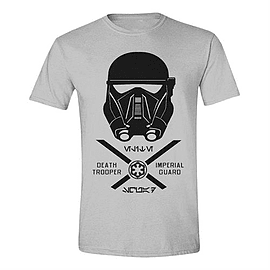 Star Wars Merchandise STAR WARS Men's Rogue One Imperial Guard T-Shirt, Medium, Grey MelanClothing and Merchandise