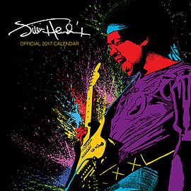 Jimi Hendrix Calendar 2017 Voodo chile Purple Haze 30 x 30cm new Official wallSize:Books