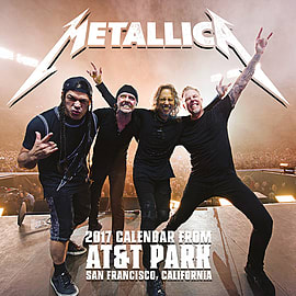 Metallica Calendar 2017 Hardwired master of puppets 30 x 30cm new Official wallSize:Books