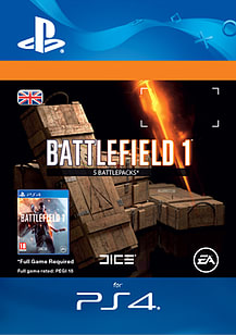 Battlefield 1 Battlepacks x 5 for PS4