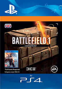 Battlefield 1 Battlepacks x 3 for PS4