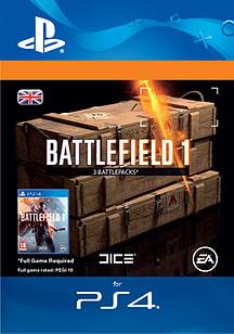 Battlefield 1 Battlepacks x 3 for PS4