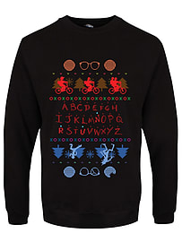 Upside Down Town Christmas Jumper Black Men's Sweater: Extra Large (Mens 42- 44)Size-XL