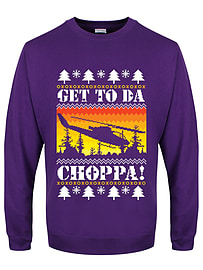Get To Da Chopper Christmas Jumper Purple Men's Sweater: Small (Mens 36 - 38)Size-S