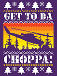 Get To Da Chopper Christmas Jumper Purple Men's Sweater: Extra Large (Mens 42- 44) screen shot 1