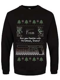 Are You Familiar With Christmas Snake? Black Men's Christmas Jumper: Small (Mens 36 - 38)Size-S