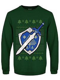 The Master Sword Christmas Jumper Bottle Green Men's Sweater: Extra Large (Mens 42- 44)Size-XL