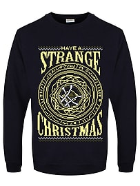 Have A Strange Christmas Christmas Jumper Navy Men's Sweater: Extra Large (Mens 42- 44)Size-XL