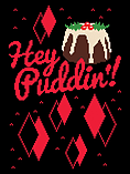 Hey Puddin'! Christmas Jumper Black Women's Sweater: Skinny Fit XXL (UK 16-18) screen shot 1