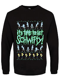 It's Time To Get Schwifty! Christmas Jumper Black Men's Sweater: XXL (Mens 44-46)Size-XXL