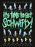 It's Time To Get Schwifty! Christmas Jumper Black Men's Sweater: XXL (Mens 44-46) screen shot 1