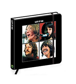 The Beatles Notebook Let It Be band logo new Official quality hardback journalSize:Stationery