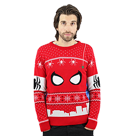 Marvel Official Spiderman Christmas Jumper / Sweater - 4X LargeClothing and Merchandise