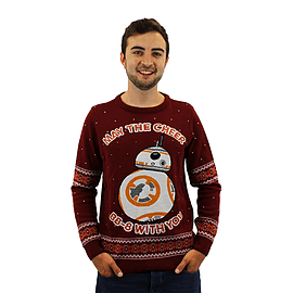 Star Wars Official BB-8 Christmas Jumper / Sweater - LargeClothing and Merchandise