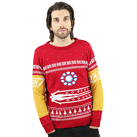 Marvel Official Iron Man Christmas Jumper / Sweater - 2X LargeClothing and Merchandise