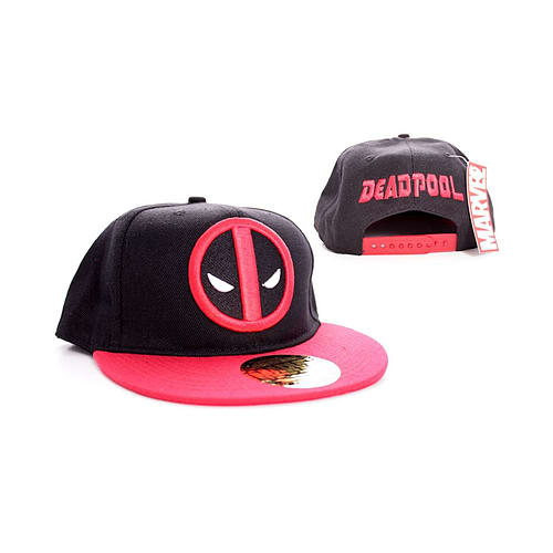 check out 8542d b17b2 Buy Deadpool face Logo new Official Marvel comics Black snapback Baseball  Cap Size  One Size   GAME